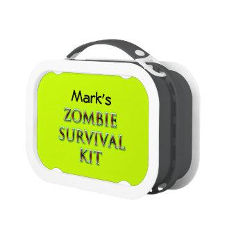 zombie survival kit lunch box customizable neon