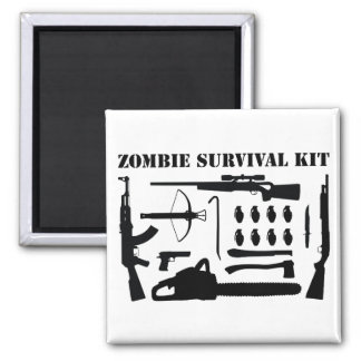 Zombie Survival Kit Magnet