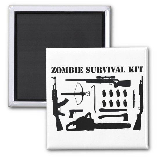 Zombie Survival Kit Magnet