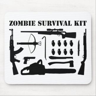 Zombie Survival Kit Mouse Pad