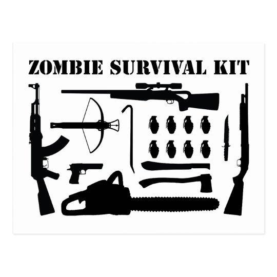 Zombie Survival Kit Postcard