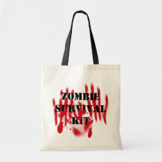 Zombie Survival Kit Tote Bag at Zazzle