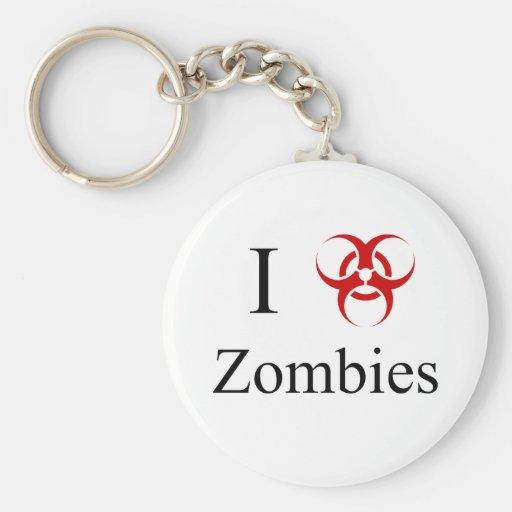 Zombie Survival Tips, I Love Zombies Key Chain