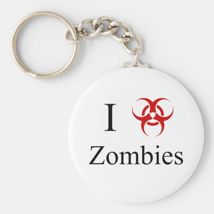 Zombie Survival Tips, I Love Zombies Keychain