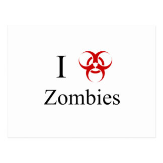 Zombie Survival Tips, I Love Zombies Postcard