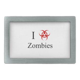 Zombie Survival Tips, I Love Zombies Rectangular Belt Buckle