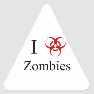 Zombie Survival Tips, I Love Zombies Stickers
