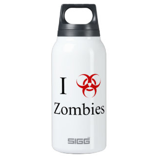 Zombie Survival Tips, I Love Zombies Thermos Bottle