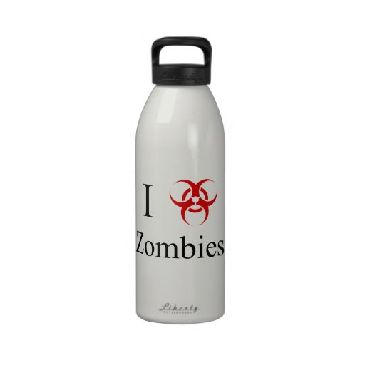 Zombie Survival Tips, I Love Zombies Water Bottle