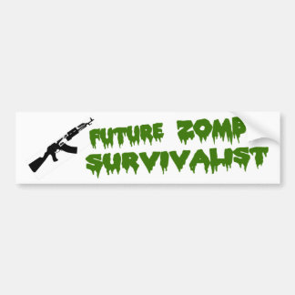 Zombie Survivalist Bumper Sticker