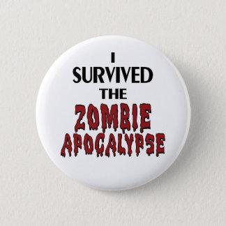 Zombie Survivor Pinback Button
