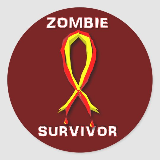 Zombie Survivor Stickers and Buttons