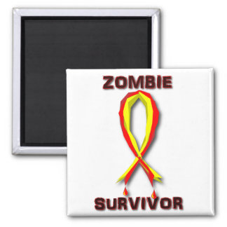 Zombie Survivor Stickers and Buttons Magnet