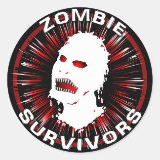 Zombie Survivors Icon Flair Classic Round Sticker