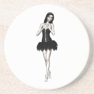 Zombie Suzy 1 - Halloween Doll Beverage Coaster
