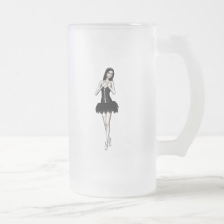 Zombie Suzy 1 - Halloween Doll Frosted Glass Beer Mug