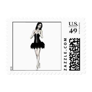 Zombie Suzy 1 - Halloween Doll Postage Stamps