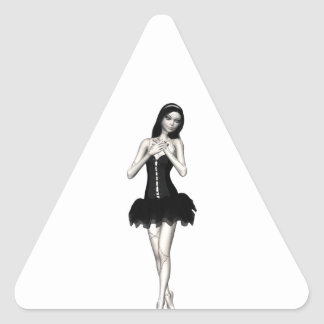 Zombie Suzy 1 - Halloween Doll Triangle Sticker