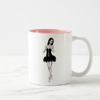 Zombie Suzy 1 - Halloween Doll Two-Tone Coffee Mug