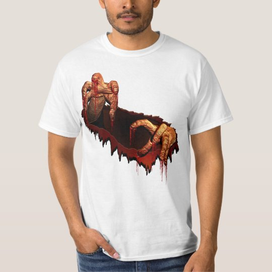Zombie T-shirt Halloween T-Shirt Gory Zombie Shirt