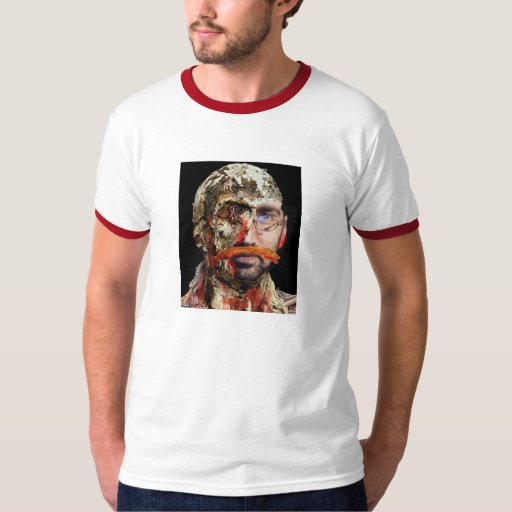Zombie T with bacon moustache T-Shirt