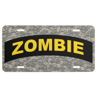 Zombie Tab License Plate