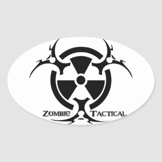 Zombie Tactical Apparel Oval Sticker