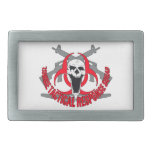 Zombie tactical red belt buckles