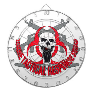Zombie tactical red dart board