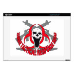 Zombie tactical red decals for laptops