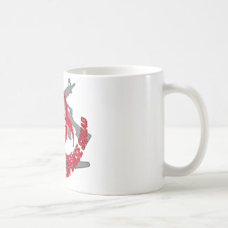 Zombie tactical red classic white coffee mug