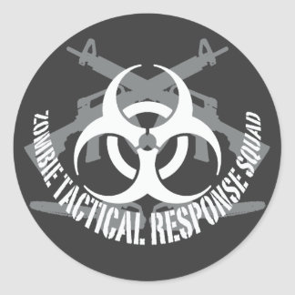 zombie tactical response squad 1 classic round sticker
