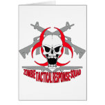 zombie tactical response squad 2 greeting card