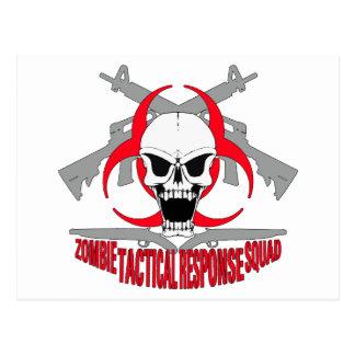 zombie tactical response squad 2 postcard