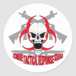 zombie tactical response squad 2 classic round sticker