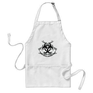 Zombie tactical response squad adult apron