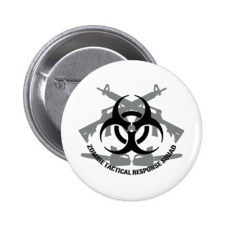 Zombie tactical response squad pinback buttons