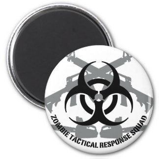 Zombie tactical response squad 2 inch round magnet