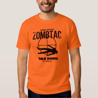 """Zombie Tactical """"Zulu Down!"""" Tee Shirt"""