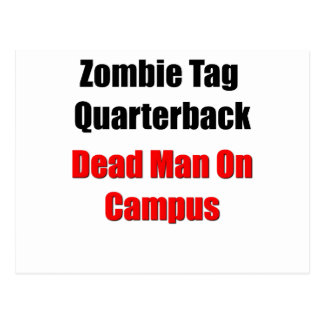 Zombie Tag Quarterback Postcard