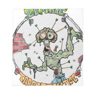 Zombie Target Practice Notepad
