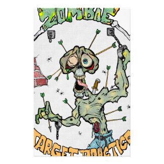 Zombie Target Practice Stationery