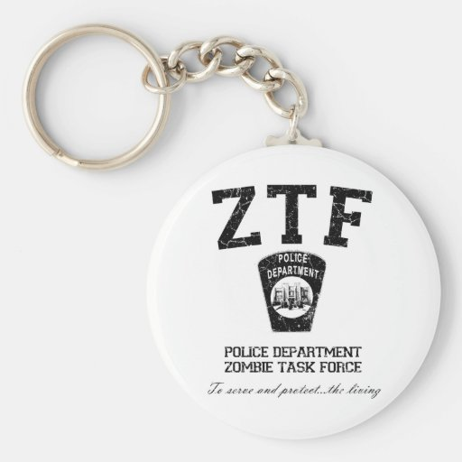 Zombie Task Force Basic Round Button Keychain