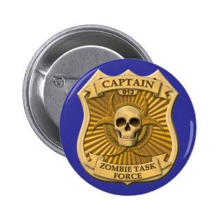 Zombie Task Force - Captain Badge Button