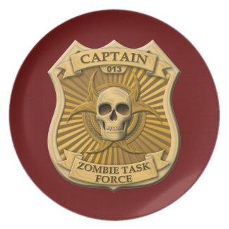 Zombie Task Force - Captain Badge Dinner Plate