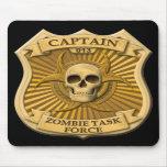 Zombie Task Force - Captain Badge Mousepad