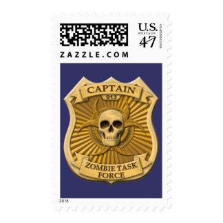 Zombie Task Force - Captain Badge Postage