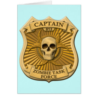 Zombie Task Force - Captain Badge Stationery Note Card