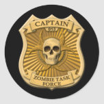Zombie Task Force - Captain Badge Sticker