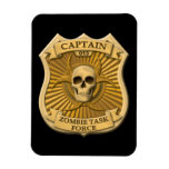 Zombie Task Force - Captain Badge Vinyl Magnets